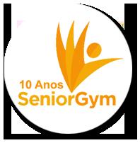 logotipo em comemoração aos 10 anos de atividade Senior Gym
