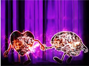 Imagem de coração e cérebro