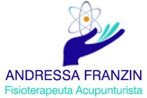 Logotipo Acupunturista Andressa Franzin- Mão com um átomo